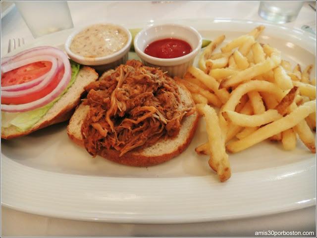 Sandwiche de Pulled Pork en el Restaurante Gala
