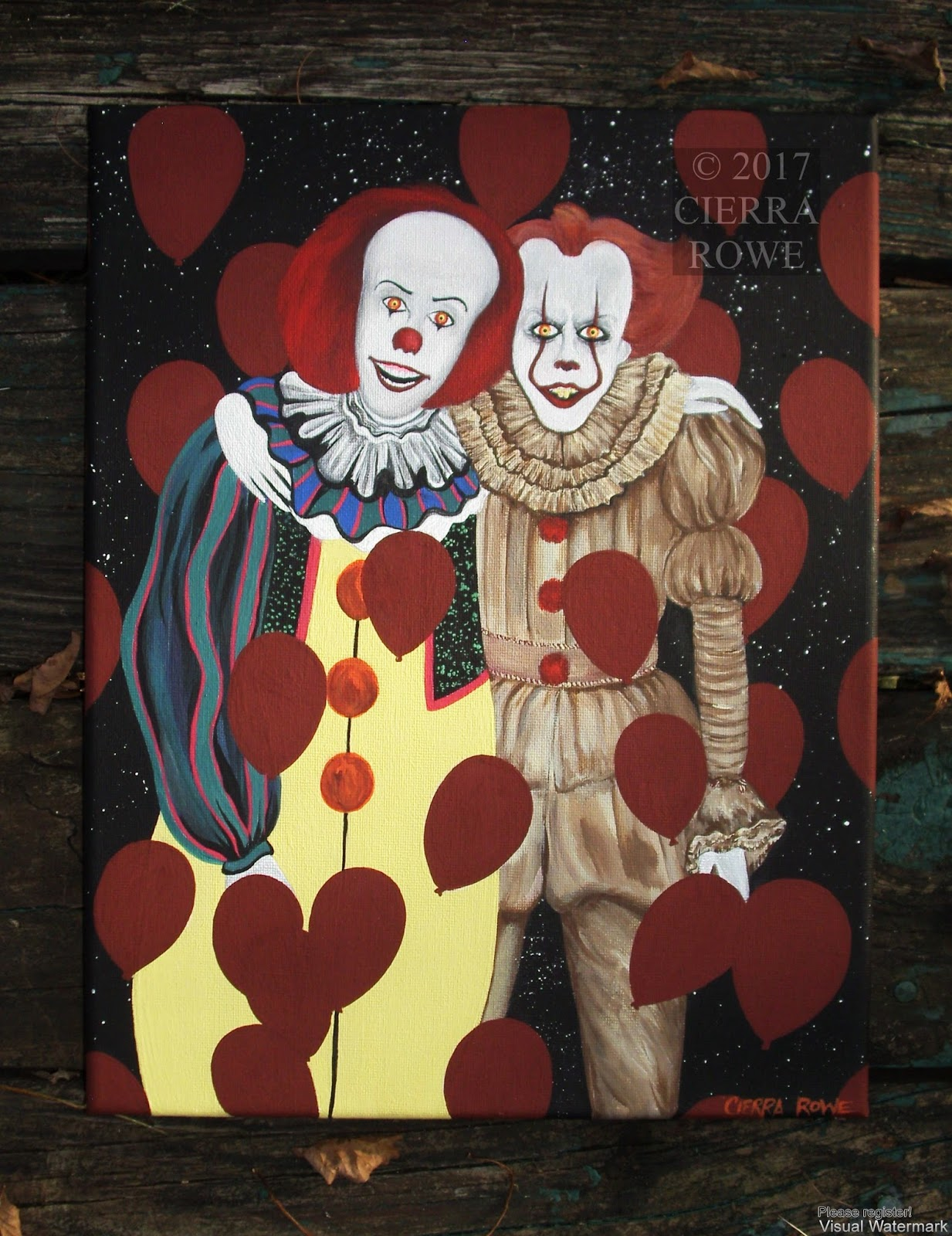 Horror Series Stephen Kings IT Painting Pennywise The Dancing - It painting
