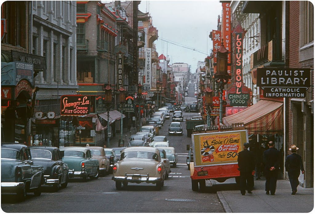 38 Wonderful Color Photographs Of Street Scenes Of The U S
