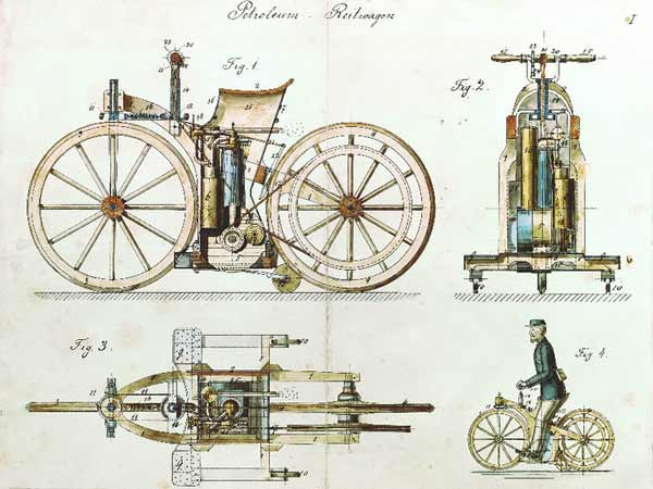 The World's First Motorcycle 1885