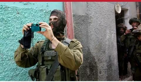 Israeli soldier filming