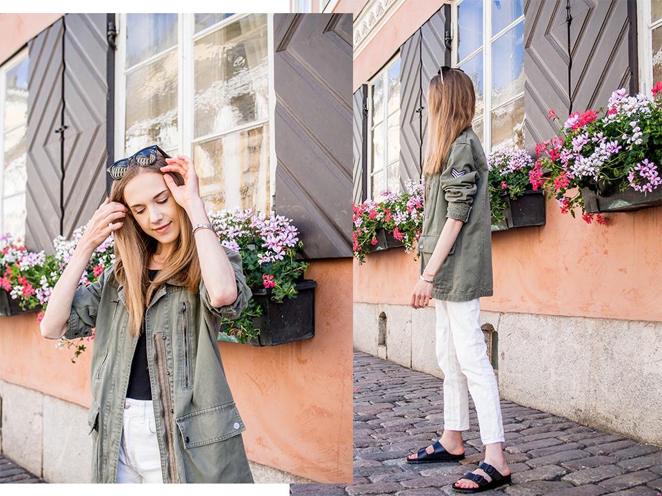 Summer jacket fashion: green cargo - Kesän takkimuoti: vihreä cargo/maihinnousu