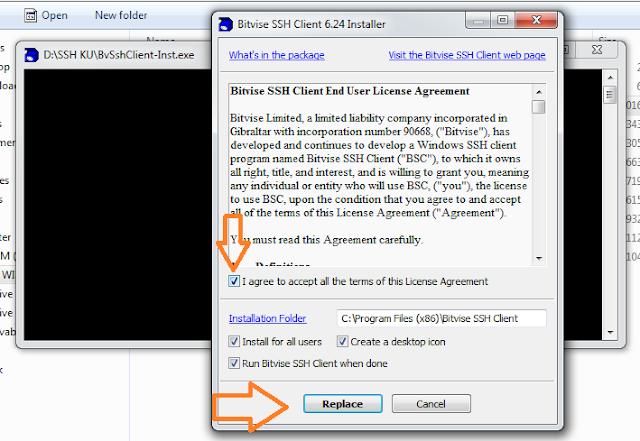 cara meng instal bitvish ssh client