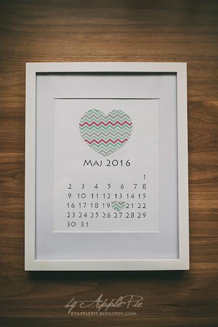 Ślubna kartka z kalendarza