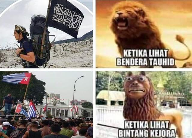 Bendera Tauhid dan Bintang Kejora