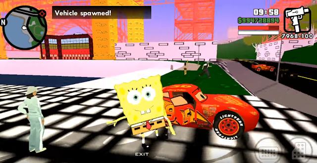 GTA SA Cartoon Mod Pack Android 2017 download now free beta v1 spongebob