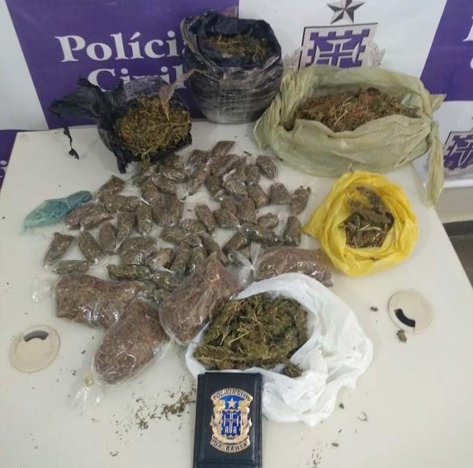 Adolescente é apreendido com drogas durante operação da Polícia Civil em Jacobina