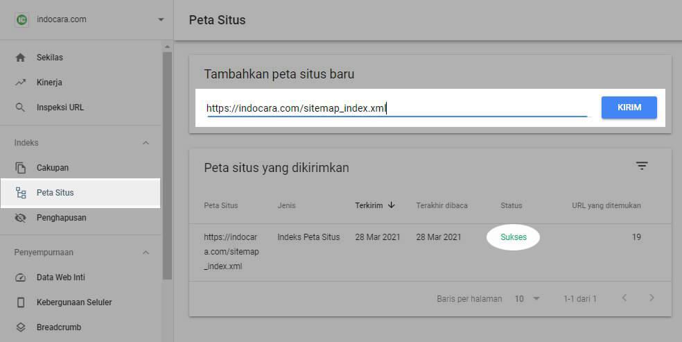 Submit Sitemap Wordpress ke Google Search Console