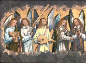 Parte izquierda del tríptico 'Retablo de Santa María la Real de Nájera' - Hans Memling