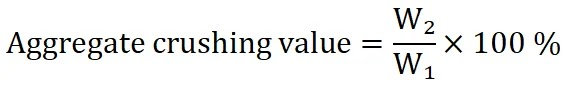Aggregate Crushing Value Test, Crushing Value Test of Aggregate
