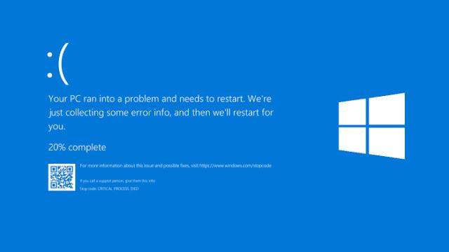 mengatasi blue screen di windows 10