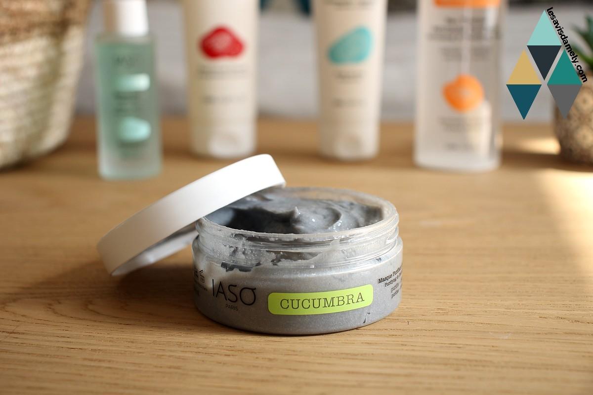 revue beauté masque visag purifiant detoxifiant cucumbra iaso paris