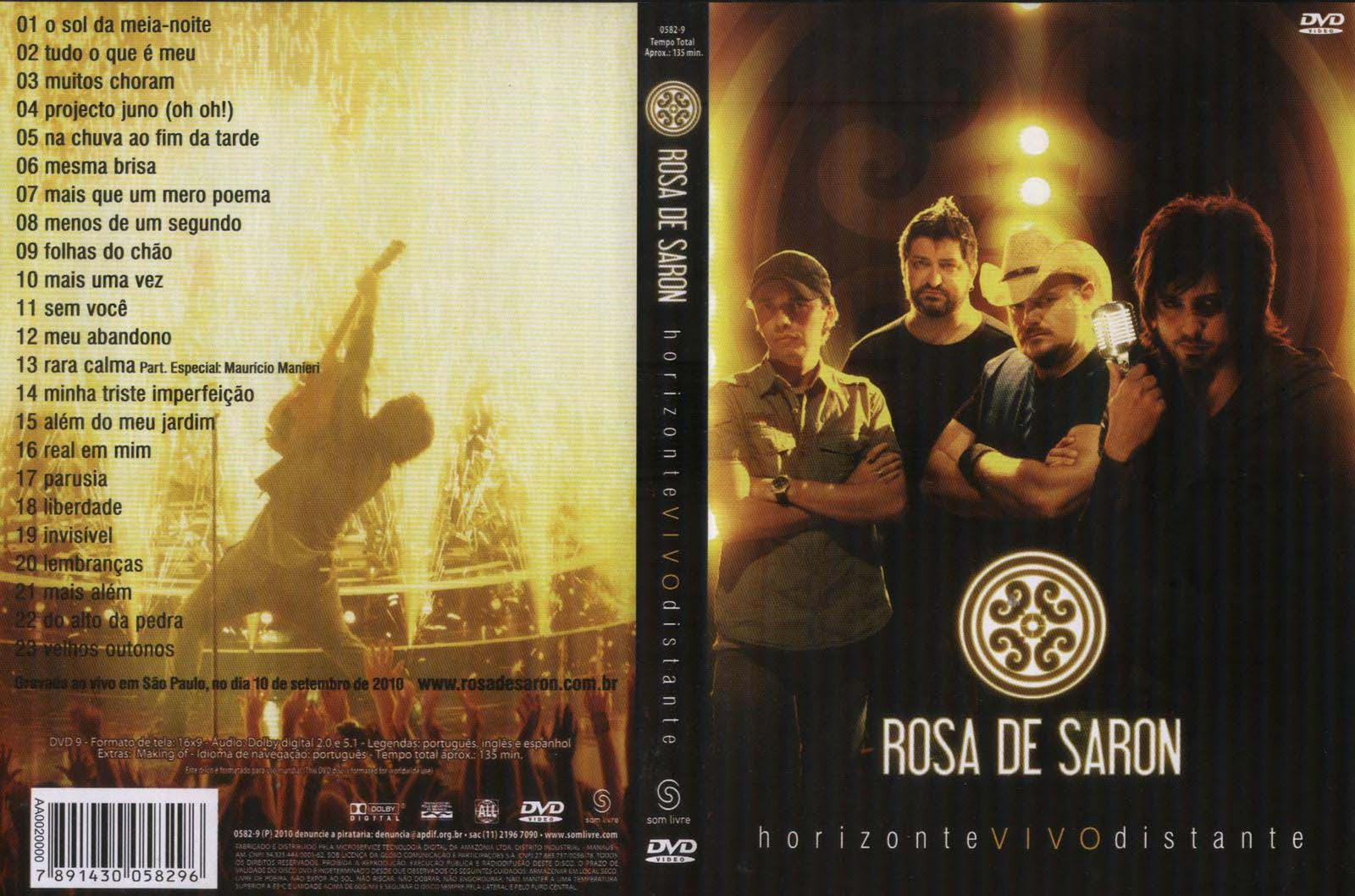dvd do rosa de saron horizonte vivo distante gratis