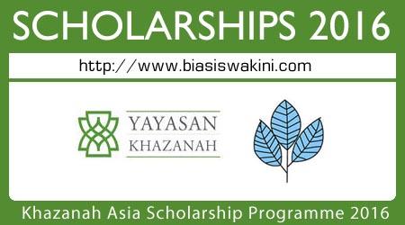 Khazanah Asia Scholarship Programme 2016