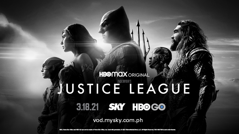 zack snyder's justice league hbo go