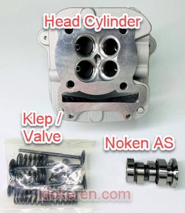 Fungsi Kepala Silinder Sepeda Motor 4 Tak
