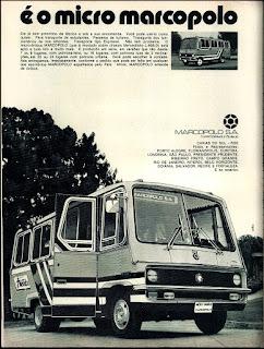 propaganda micro onibus Marco Polo - 1972, anos 70; década de 70, Oswaldo Hernandez,