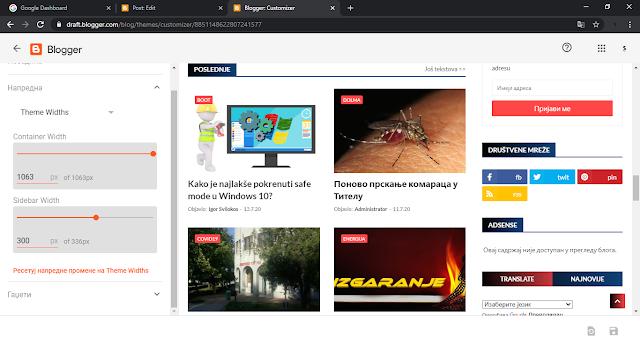 New responsive Blogger Theme Designer