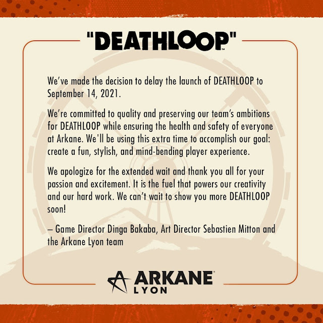 Deathloop delayed to September 14, 2021 - Decision made to maintain quality while ensuring the heath and safety of staff at Arkane Studios | TechNeg