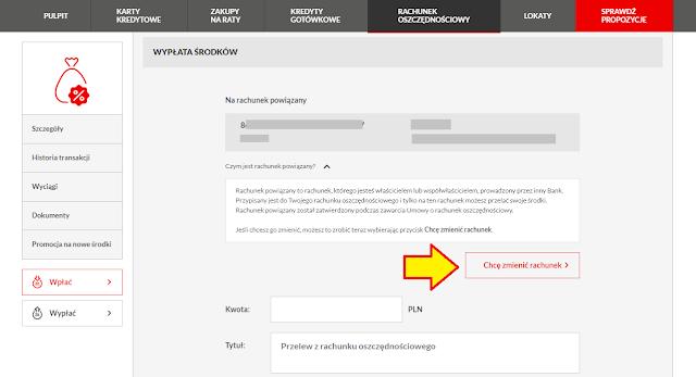 Jak zmienić rachunek powiązany w Santander Consumer Banku