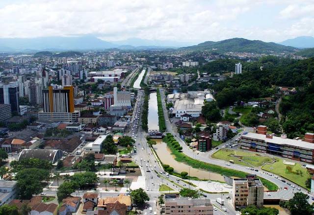 Imagem érea de Joinville