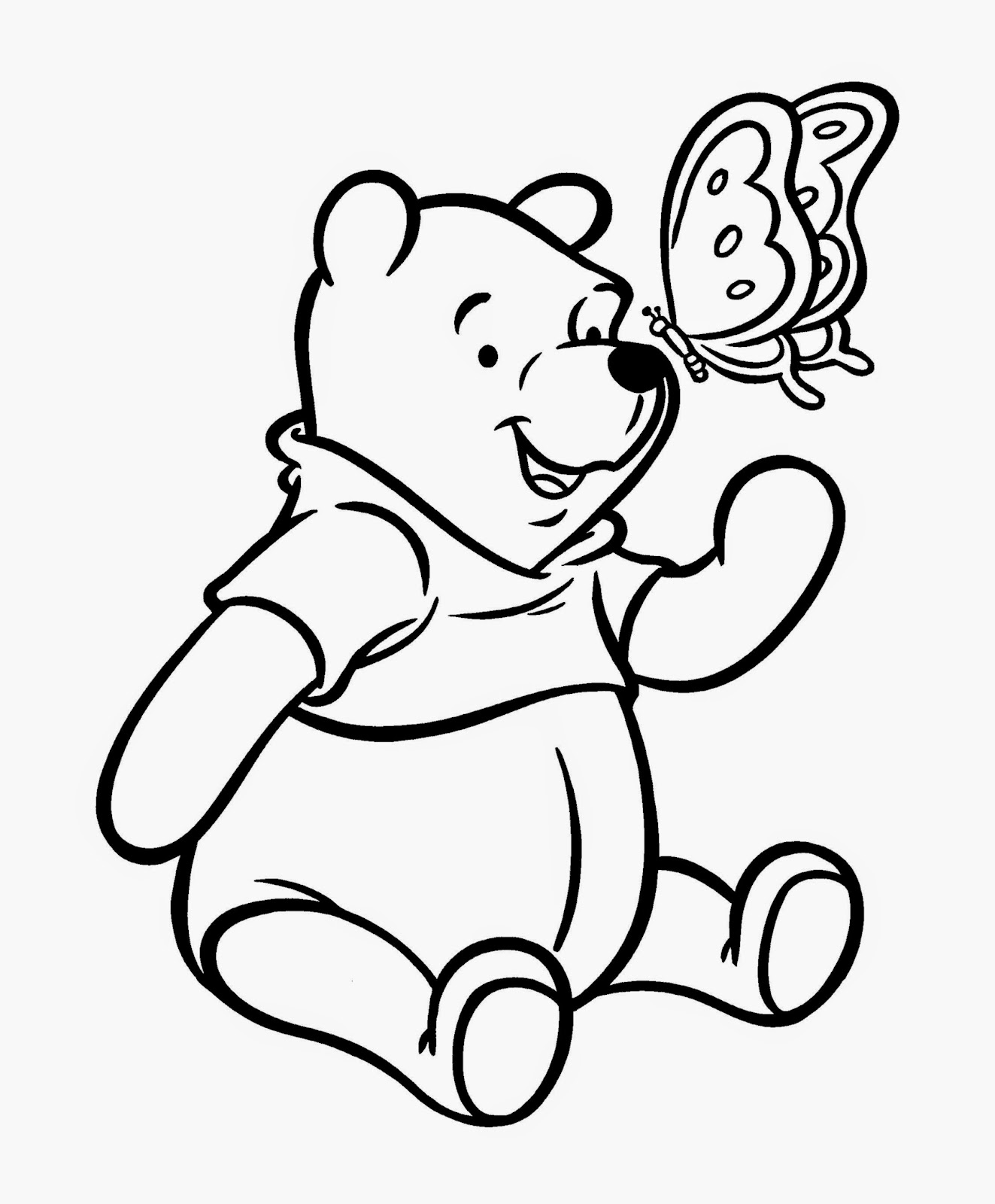 Winnie the pooh coloring sheets free coloring sheet for Free pooh bear coloring pages