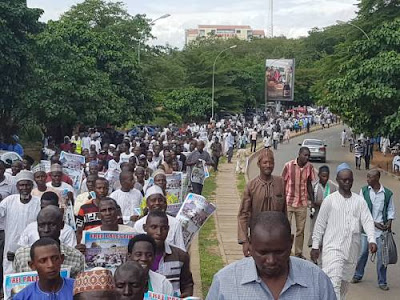 Photos: Shiites Defy Police Warning, Hold Massive Protest In Abuja, 3Killed