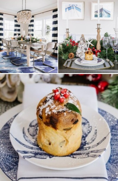 Coastal Christmas Table Centerpiece Decor Ideas
