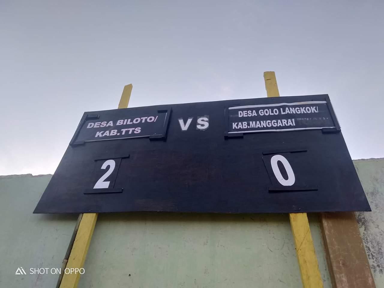 Final Liga Desa Nusantara Di Soe Golo Langkok Kalah 0 2