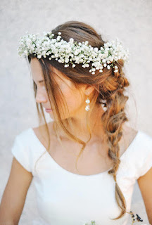 K'Mich Weddings - wedding planning - floral crown - hair braided to the side