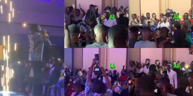 Shatta Wale Hugs Stonebwoy During MVA'S 19 Yesterday ( Video)
