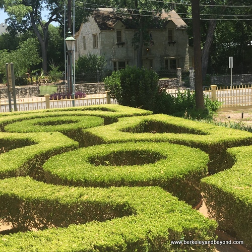 hedge maze at Edward Steves Homestead Museum in King William Historic District of San Antonio, Texas