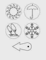 early play templates: Weather charts and symbols