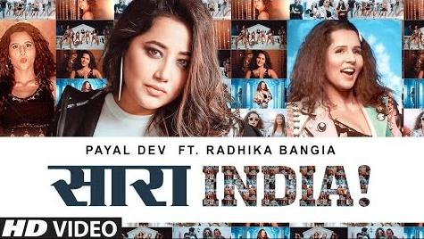 Saara India Lyrics   सारा इंडिया   Payal Dev   Radhika Bangia   Javed-Mohsin   T-Series   New Song 2020
