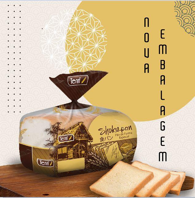 Nova embalagem do pão especial da Tenri homenageia o Japão