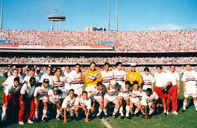 Escalação do São Paulo contou com o reforço de Raí na final do Paulistão de 1998. Foto: Divulgação/Site Oficial