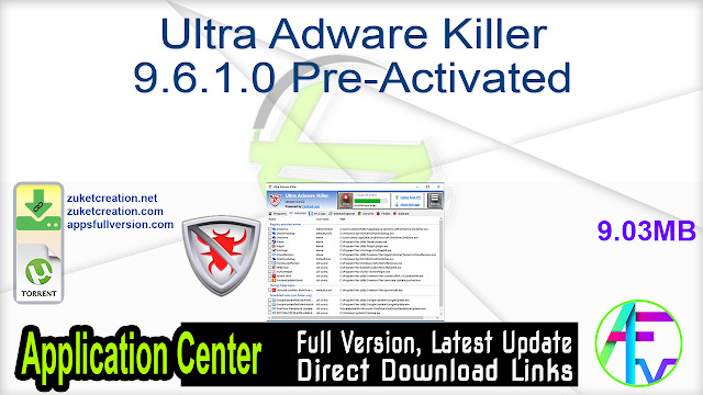 Ultra Adware Killer 9.6.1.0 Pre-Activated