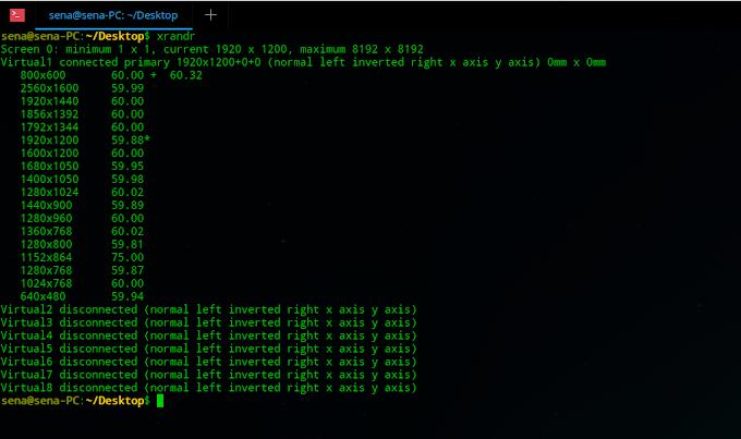 Forçar resolução de tela no Linux