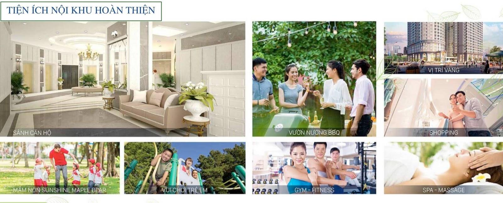 Tiện ích nội khu hoàn thiện tại Sunshine Garden Minh Khai