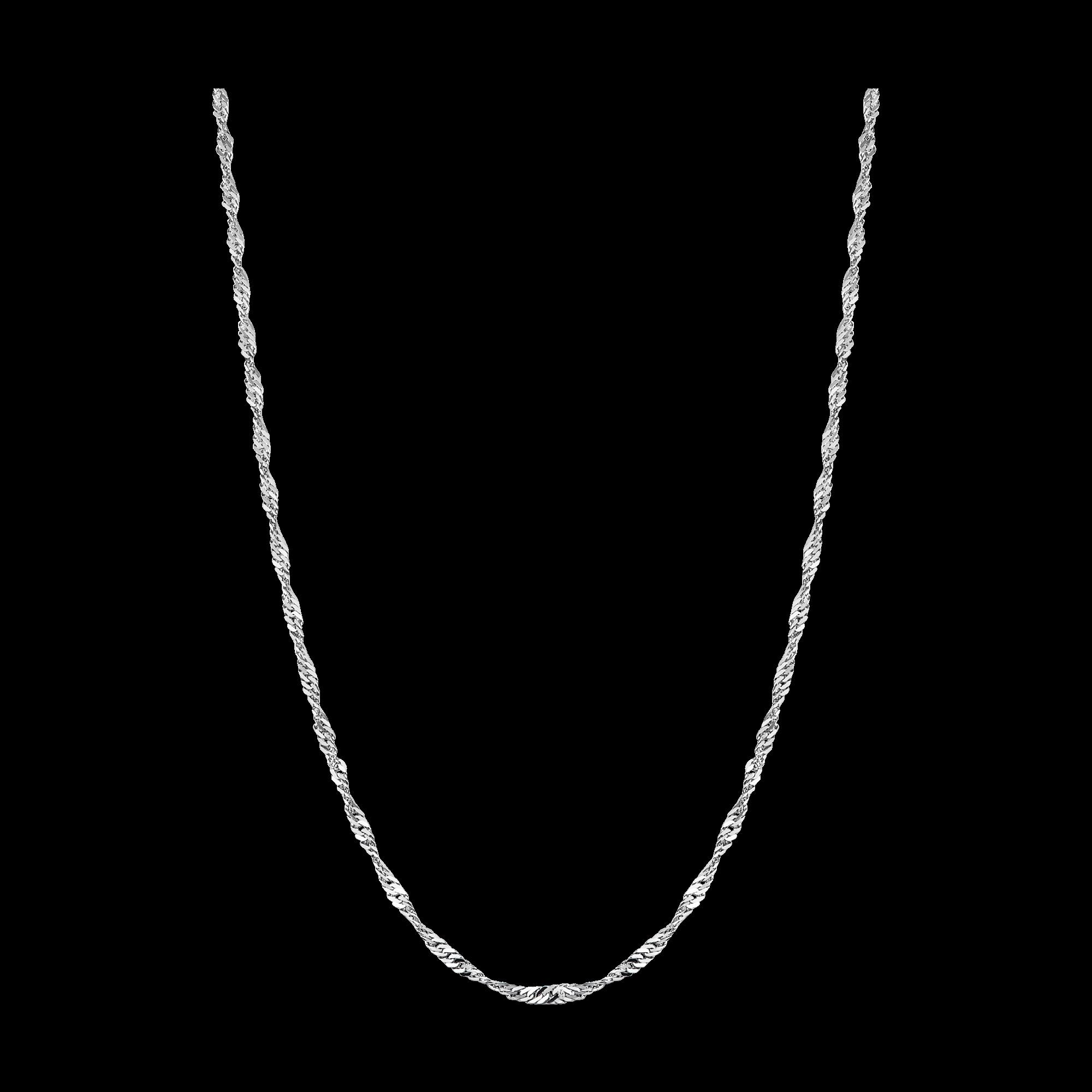Dây chuyền Vàng trắng 10K PNJ kiểu dây đan lật đôi 0000W000221