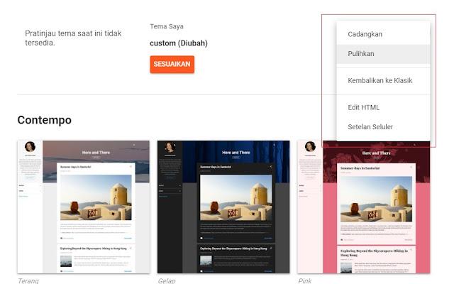 Mengganti Template Blogspot