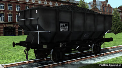 Fastline Simulation: Wagon identification has started to move on since this dia 1/141 21T coal hopper last saw a repaint and it has gained a fully boxed data panel but retains the HOP 21 telegraphic coding.