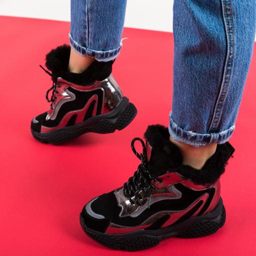 Pantofi sport cu platforma imblaniti