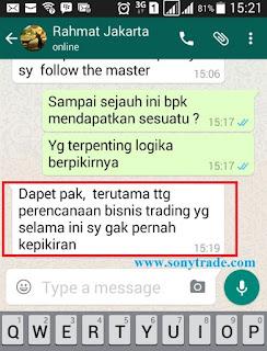 testimoni member hasil belajar trading saham forex surabaya sonytrade