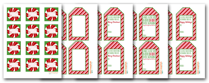 Free Printable Gift Tags for Hot Cocoa