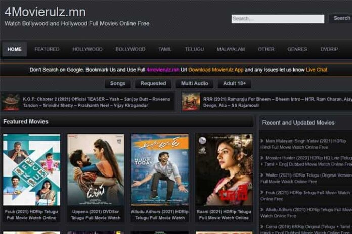 4Movierulz 2021 – Download Telugu Bollywood Hollywood Tamil Movies