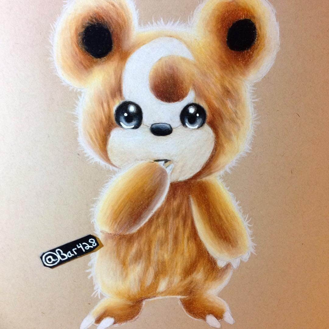 13-Teddiursa-Estefani-Barbosa-Fantasy-Animals-in-Pencil-Drawings-www-designstack-co