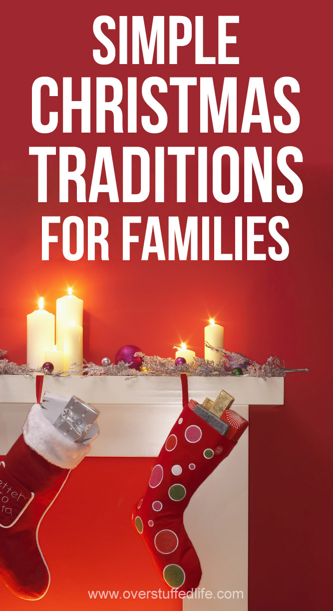 Simple Christmas traditions to start with your family. These easy ideas will be traditions your family will remember for years to come!