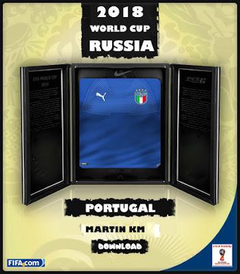 PES 6 Itália FIFA World Cup 2018 Home & GK Kits