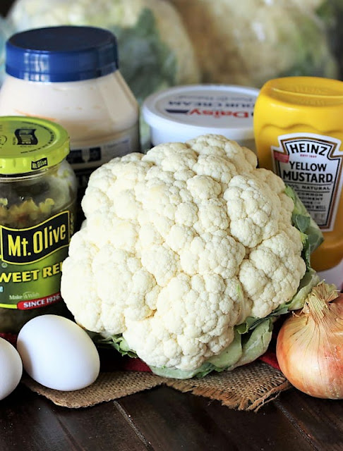 "Cauliflower Mock ""Potato"" Salad Ingredients Image"
